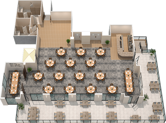 Oxbow Fort Myers private event space floor plan